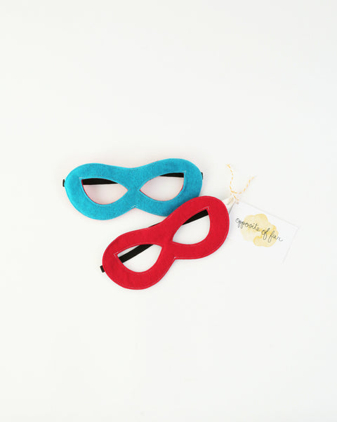 Felt Superhero Reversible Mask in Blue/Red