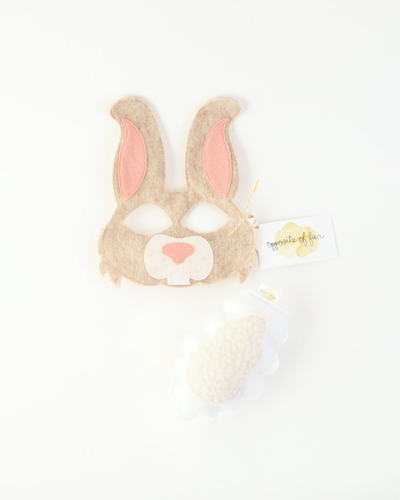 Felt Rabbit Mask & Tail