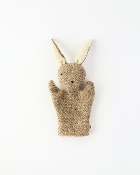 Light Grey Rabbit Hand Puppet