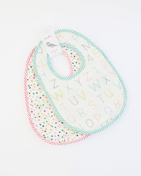 Alphabet & Multi Dots Bibs