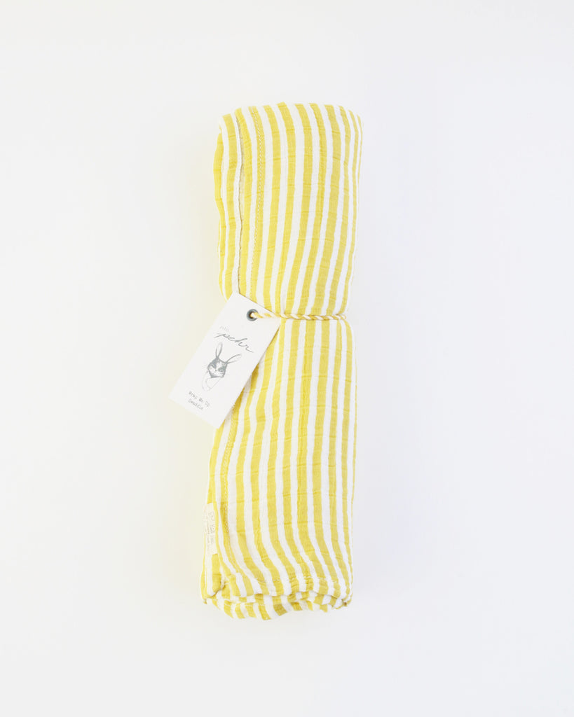 Citron Stripe Swaddle
