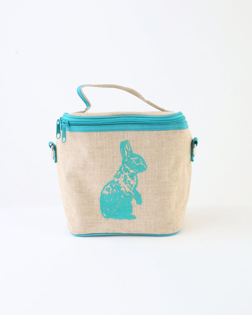 Small Cooler Bag — Aqua Bunny