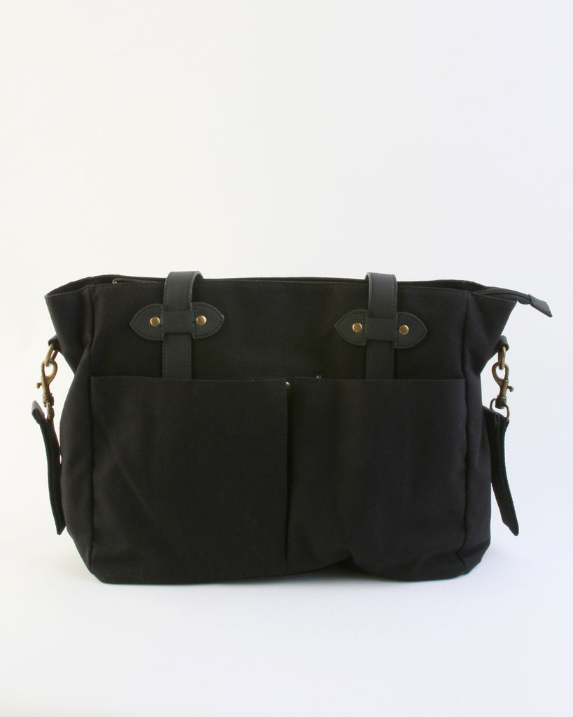 Emerson Diaper Tote in Black