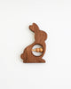 Wood Bunny Rattle Toy