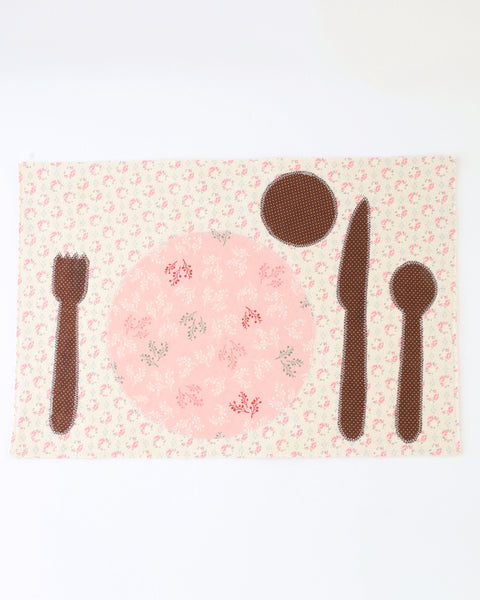 Children's Placemat — Cream Floral