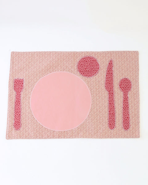 Children's Placemat — Pink Floral