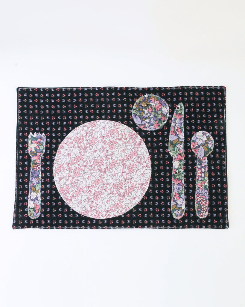 Children's Placemat — Purple Floral