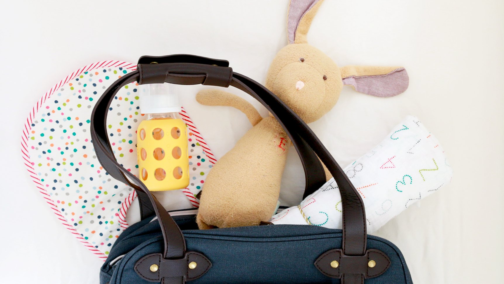 diaper bag with baby gear