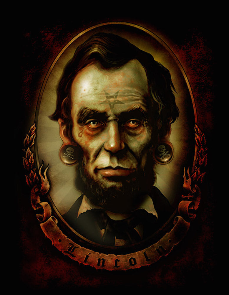 Abraham Lincoln by Marcus Jones Rolled Canvas Art Giclee Print