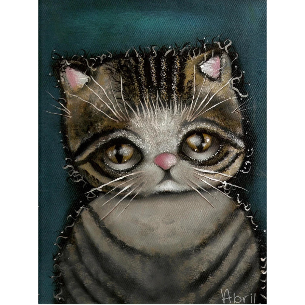 Tully the Cat by Abril Andrade Griffith Rolled Canvas Art Giclee Print