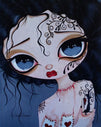 fine teens goth dark carnie painting traditional tattoo flash designs color artwork artist black wood home decor large decor