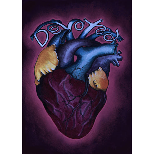 Devoted Blue by Brittany Morgan Heart Unframed Canvas Art Print