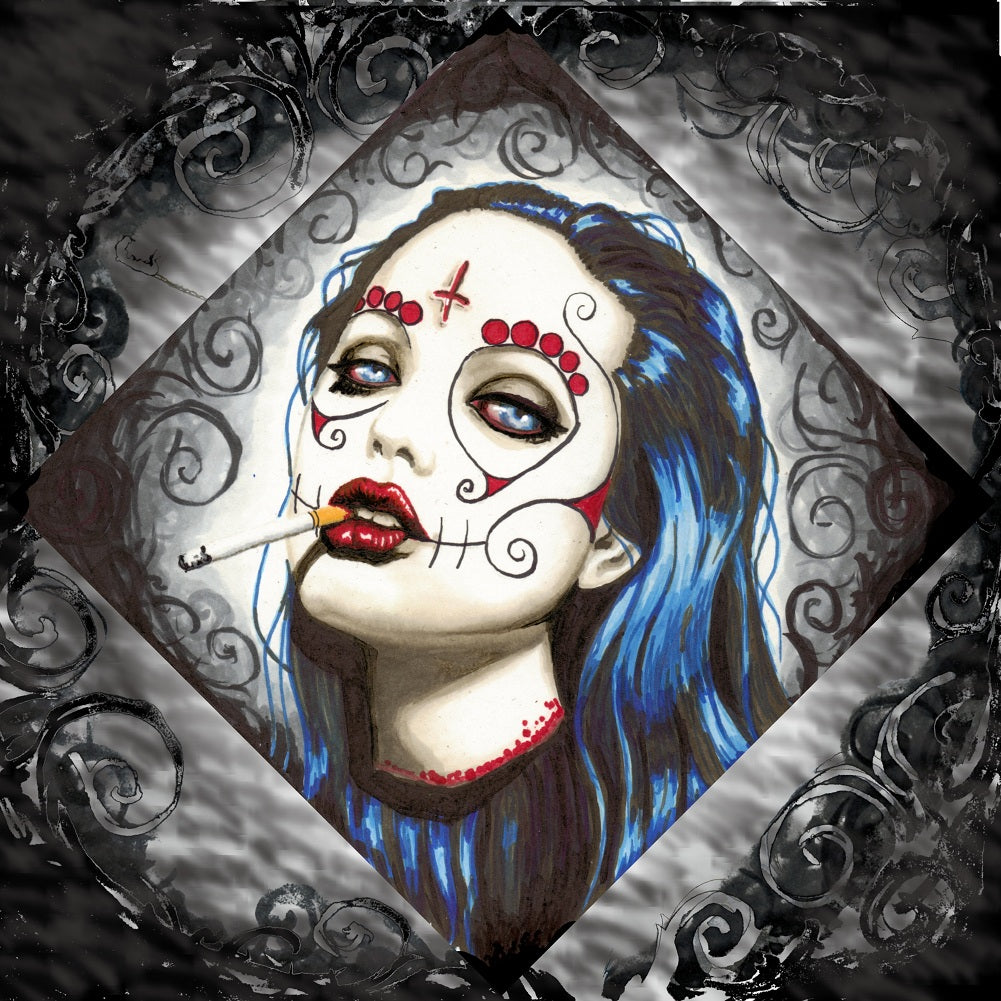 Angelina by Shayne of the Dead Pagan Unstretched Canvas Art Print