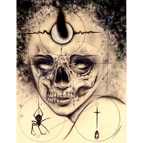usa black white women female woman hanging wall fine paranormal pencil charcoal woman psychic aura anatomy medical goth drawi