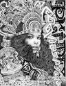 Aztec Girl by Mouse Lopez Rolled Canvas Art Giclee Print
