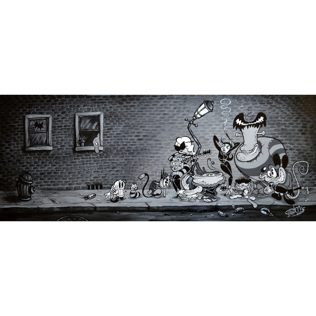 kustom kulture wall decor custom culture monster home cartoon paintings picture alt artwork framing room drawing so-cal funny
