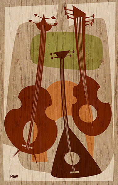 Beat Strung by Now Modern String Instruments Beatnik Canvas Art Print