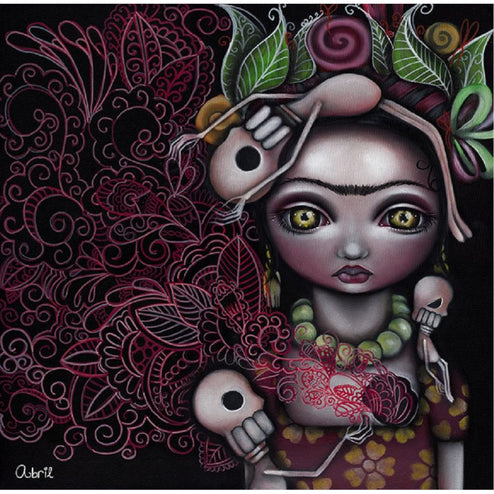 My Inner Feelings by Abril Andrade Skeleton Girl Fine Art Print