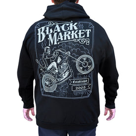 chopper harley-davidson tattoo logo sweatshirt