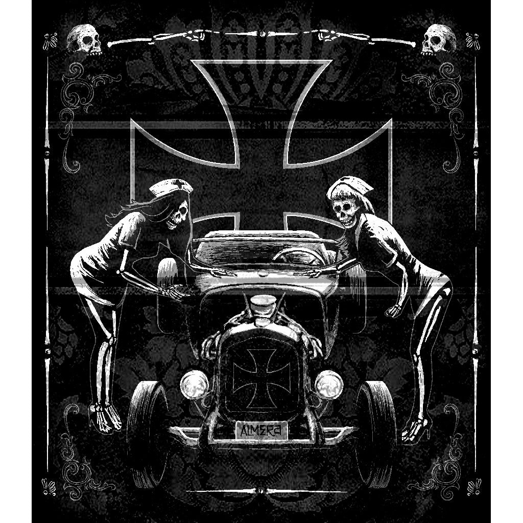 pictures sexy skull nurses drawing mancave cross fast cars gothic goth home decor black white painting tattoo traditional sty