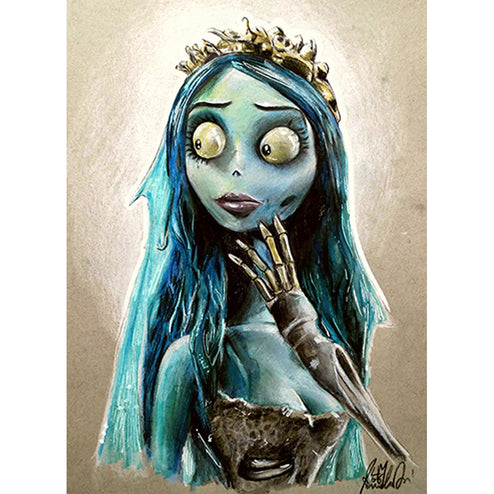 The Blue Bride by Manuela Lai Corpse Emily Skeleton Fine Art