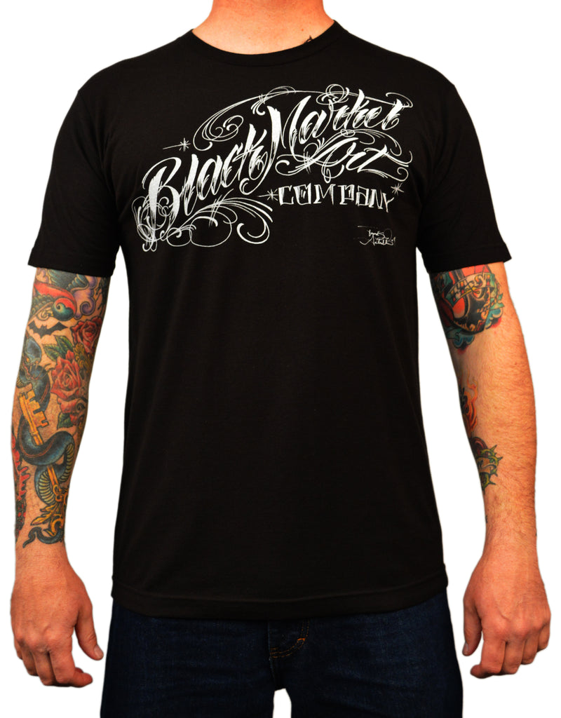Men's Danvir Logo Tee by Tomas Archuleta Black Market Tattoo T Shirt