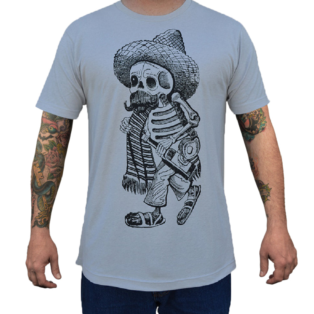 hispanic american casual folkart sombrero famous artwork tees boys teen boys silver latino tequila mustache western tops skel