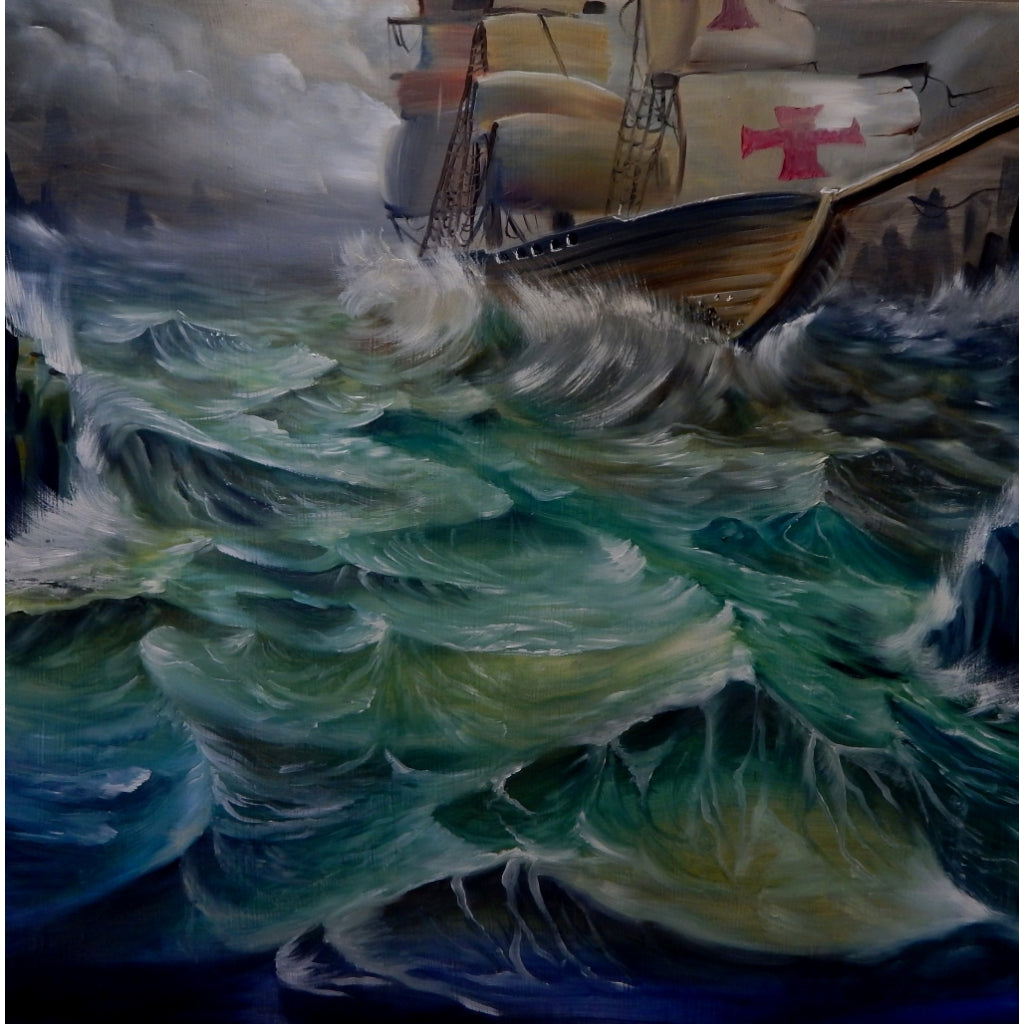 Ship by Brian Mathew Rolled Canvas Art Giclee Print