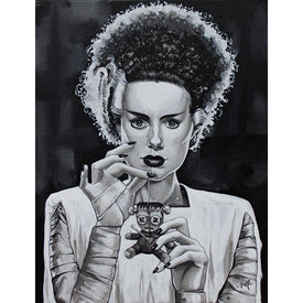 Bride of Frankenstein with Voodoo Doll Art | Moodswings Inc