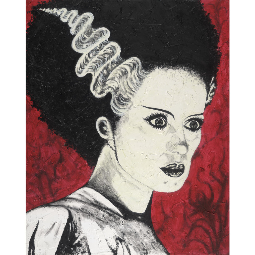 Frank's Bride by Byron Frankenstein Rolled Canvas Wall Art Print