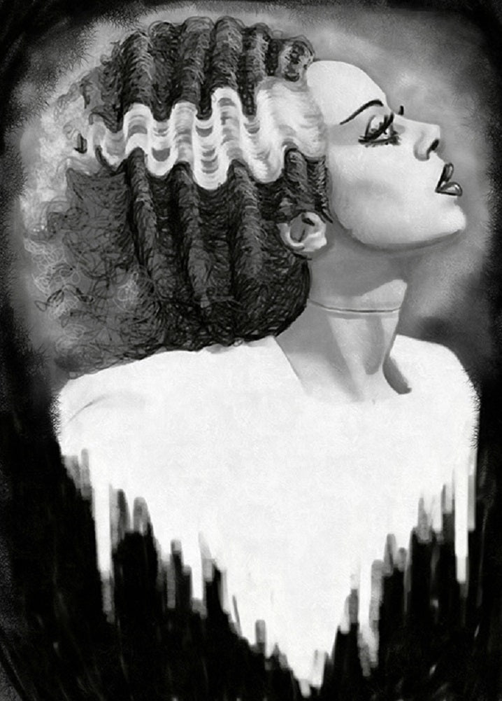 Bride of Frankenstein by Shayne of the Dead Unframed Canvas Art