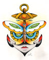 Butterfly Anchor Face by Clark North Fine Art Print for Framing