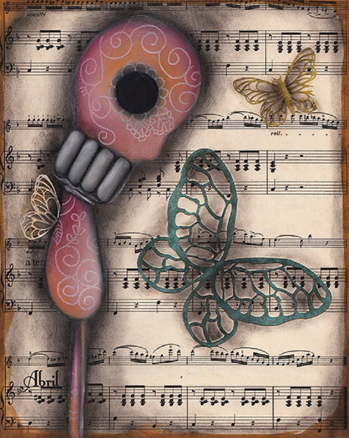 Butterfly Secrets by Abril Andrade Sugar Skull Fine Art Print