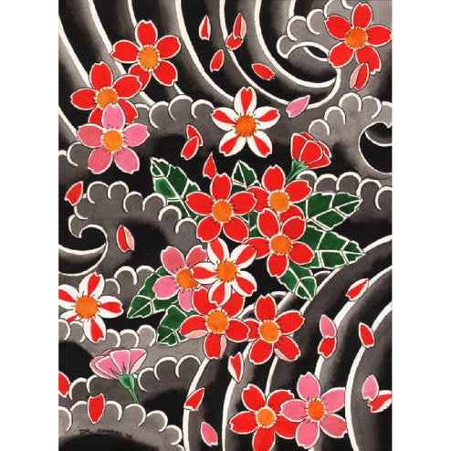 Cherry Blossoms by David Simmes Japanese Tattoo Fine Art Print