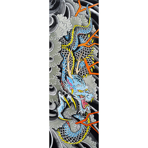 Blue Dragon by Clark North Japanese Unframed Fine Art Print
