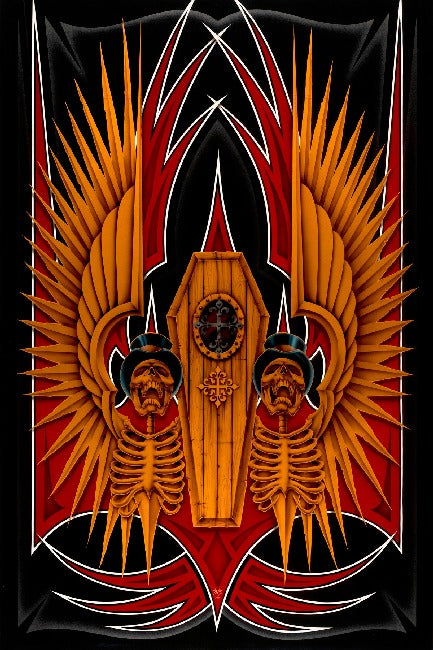 Coffin by Dan Scholz Paper Rolled Art Unframed Giclee Print
