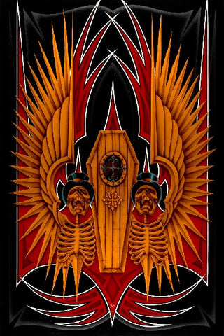 Coffin by Dan Scholz Rolled Canvas Art Giclee Print
