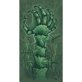 Creature Hands by Dwight Francis Black Lagoon Monster Art Print