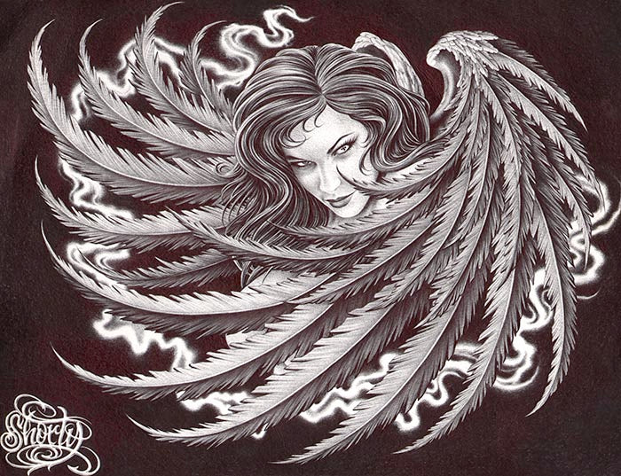 Dark Angel by Fernando Shorty Lopez Rolled Canvas Art Giclee Print