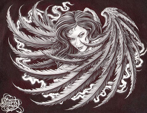 Dark Angel by Fernando Shorty Lopez Unstretched Canvas Art Print