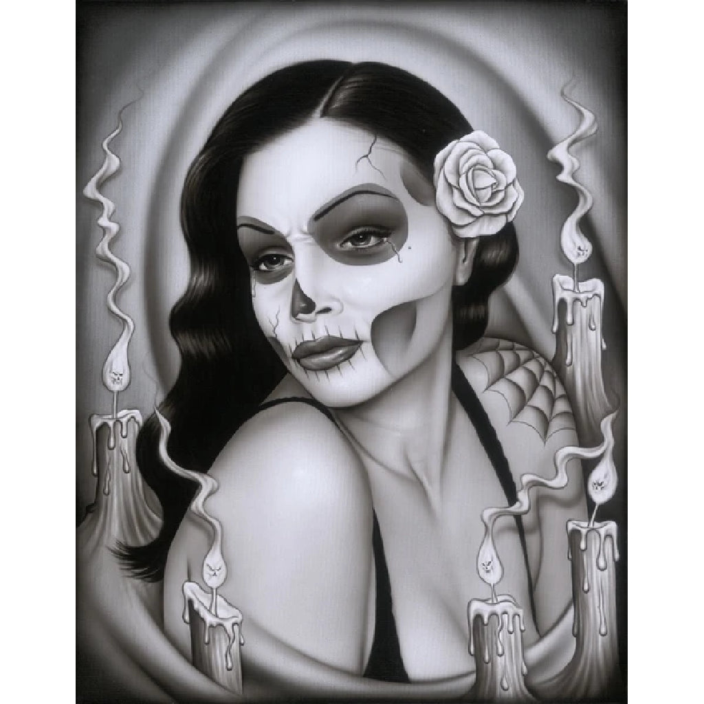 Day of the Dead Aria by Spider Rolled Canvas Art Giclee Print