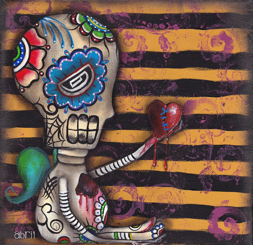 Day of the Dead by Abril Andrade Griffith Heart Fine Art Print