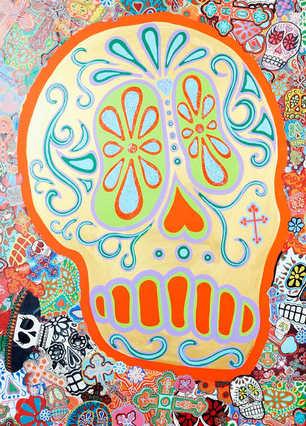 Dead Gold by Malibloc Day of the Dead Sugar Skulls Canvas Art Print