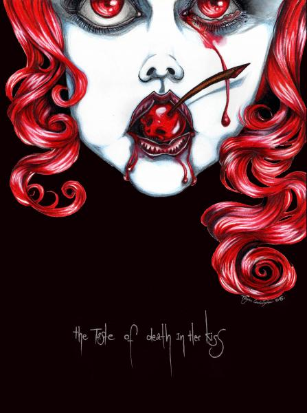 Deadly Sweet by Tegan Coddington Paper Rolled Art Unframed Print