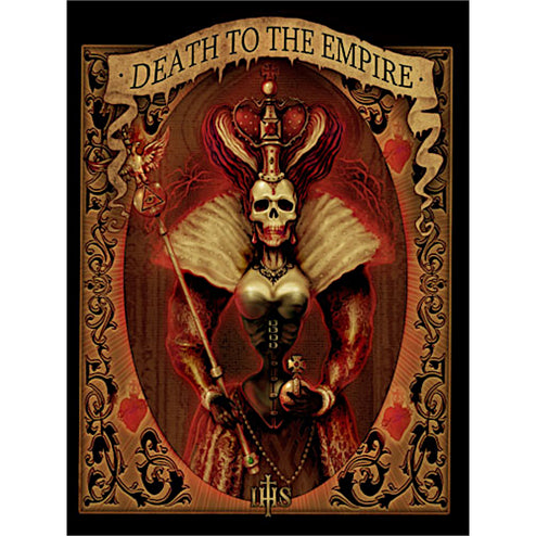 Death to the Empire Queen by Marcus Jones Rolled Canvas Art Print