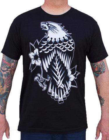 Men's Eagle Rain by Artist Josh Persons Tattoo Art Design T Shirt