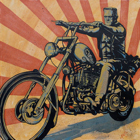 Easy Rider Frankenstein Biker Art MCM | Moodswings Inc