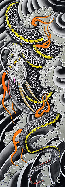 asian oriental japanese fire traditional asian artwork painting traditional tattoo flash designs color artwork artist black w