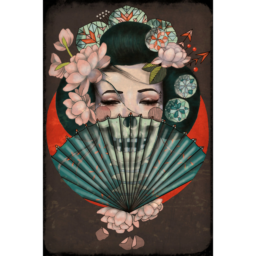 Death Becomes Her by Amy Dowell Geisha Japanese Unframed Art Print