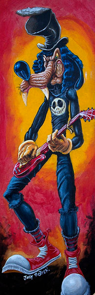 goofy slash by joey rotten rock & roll music tattooed character canvas art print mickey-mouse rock guitar disney rock-and-roll